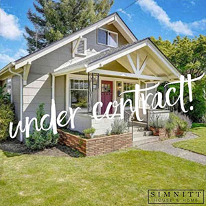 A home under contract with Simnitt House and Home
