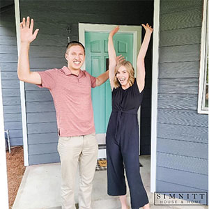The Olivers celebrate closing on their home